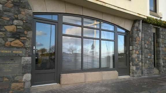 StormMeister™ Flood Doors installed to protect prestigious commercial premises in St Peter Port, Guernsey, The Channel Islands.