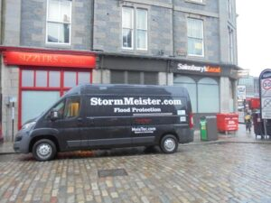 The Sainsbury's Local in Aberdeen pictured below is protected by StormMeister™ Commercial Flood Doors.